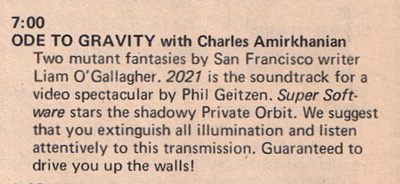 Ode to Gravity 1971
